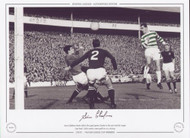 Steve Chalmers heads Celtic's first goal against Dundee in the 1968 Scottish League Cup Final. Celtic scored 4 more goals in a 5-3 victory.