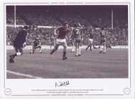 Norman Whiteside celebrates scoring Manchester United's second goal in the 1983 FA Cup Final replay against Brighton. The red devils eventually triumphed 4-0 to hand them their 5th FA Cup title.