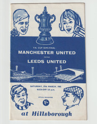 original Official 1965 FA Cup Semi Final programme. The game, Manchester United V Leeds United was played on 27th March 1965 at Hillsborough.