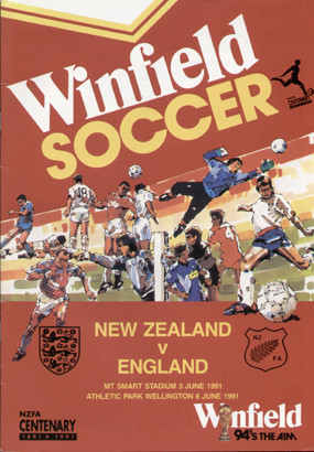 original Official double programme for the International matches New Zealand V England, the games were played on 3 June 1991 & 8 June 1991.