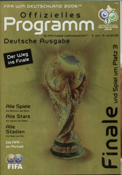 original Official programme for the World Cup Final Italy V France, the game was played on 9 July 2006 in Berlin.