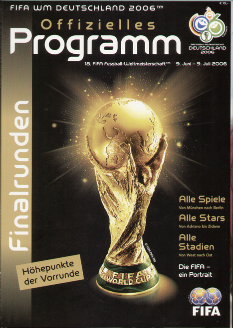 original Official programme for the Germany 2006 World Cup Finals 2nd round games. German Edition.