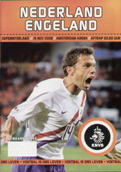original Official programme for the international match Holland V England, the game was played on 15 November 2006 at the Amsterdam Arena.