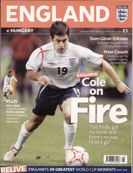 original Official programme for the friendly international match England V Hungary, the game was played on 30 May 2006 at Old Trafford.