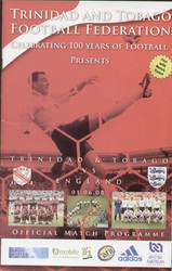 original Official programme for the friendly match Trinidad & Tobago V England, the game was played on 1 June 2008.