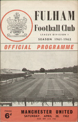 original Official programme for the League Division 1 match Fulham V Manchester United played on 28 April 1962 at Craven Cottage.