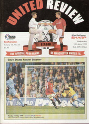 original Official programme for the Premier League match Manchester United V Southampton played on 10 May 1995 at Old Trafford.
