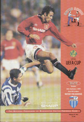 original Official programme for the UEFA Cup match Manchester United V Rotor Volgograd played on 26 September 1995 at Old Trafford.