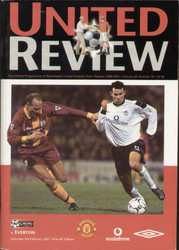 original Official programme for the Premier League match Manchester United V Everton played on 3 February 2001 at Old Trafford.