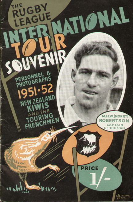 On offer is an original Official programme for the New Zealand Rugby League tour of England 1926/27, the programme contains photographs and biographies of all the players.