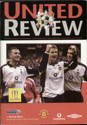 original Official programme for the Premier League match Manchester United V Aston Villa played on 23 February 2002 at Old Trafford.