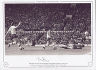 Bryan Robson scores the first of his two goals against Liverpool, during an epic game at Anfield in 1988. Manchester United, down to 10 men, battled their way back from 3-1 down to secure a 3-3 draw.