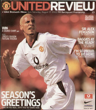 original Official programme for the Premier League match Manchester United V West Bromwich Albion played on 17 August 2002 at Old Trafford.