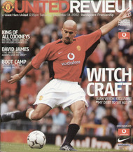 original Official programme for the Premier League match Manchester United V West Ham United played on 14 December 2002 at Old Trafford.