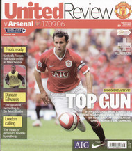 original Official programme for the Premier League match Manchester United V Arsenal played on 17 September 2006 at Old Trafford.