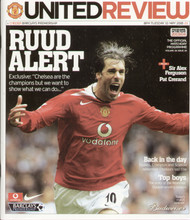 original Official programme for the Premier League match Manchester United V Chelsea played on 10 May 2005 at Old Trafford.