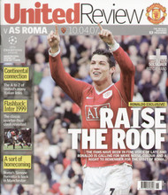 original Official programme for the Champions League Quarter Final Manchester United V AS Roma played on 10 April 2007 at Old Trafford.