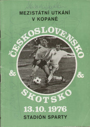 original Official programme for the international match Czechoslovakia V Scotland played on 13 October 1976.