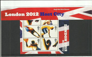On offer is a 2005 London 2012 Royal Mail Mint Presentation Pack, with plastic sleeves and inserts, all stamps mint, unhinged.