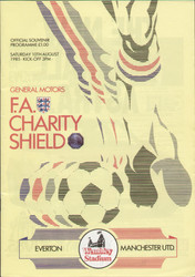 original Official 1985 FA Charity Shield programme. The game, Manchester United V Everton was played on 10th August 1985 at Wembley Stadium.