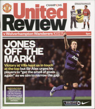 original Official programme for the Premier League match Manchester United V Wolverhampton Wanderers played on 10 December 2011 at Old Trafford.