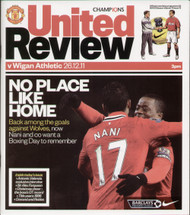 original Official programme for the Premier League match Manchester United V Wigan Athletic played on 26 December 2011 at Old Trafford.