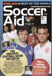 original Official programme for the Soccer Aid match England V Rest of the World, the game was played on 27 May 2012 at Old Trafford.