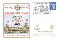 original first day cover to celebrate The League Cup Final 1977, Everton V Aston Villa, issued in March 1977. Complete with filler card.