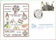 original first day cover to celebrate the International match England V Hungary. Issued May 1978. Complete with filler card.