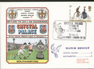 original first day cover to celebrate Crystal Palace as Division II Champions. Complete with filler card.