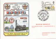 original first day cover to celebrate the 100th Manchester League Derby. Issued March 1980. Complete with filler card.