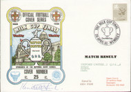 original first day cover to celebrate the Milk Cup Final, Oxford United V QPR. Issued April 1986. Complete with filler card.