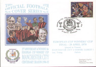 original first day cover to celebrate Manchester City 25th anniversary of the European Cup Winners Cup Final, issued in April 1995.