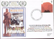 original first day cover to celebrate unveiling of the Don Revie statue at Elland Road, issued in May 2012. Complete with filler card.