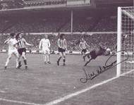 Jim Montgomery saves during the 1973 FA Cup Final, Sunderland went on to clinch a memorable 1-0 victory over Leeds United.