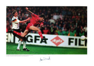 Wales V West Germany 1991 Ian Rush scores the only goal in a memorable win for Wales over West Germany at Cardiff Arms Park in 1991. Superb limited edition signed by Wales legend Ian Rush.