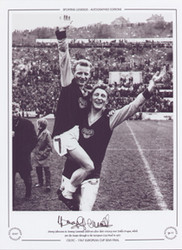Celtic Johnstone & Gemmell celebrate 1967 European Cup Semi Final