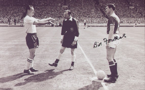 Captain's Bill Foulkes & Nat Lothouse prior to the start of the 1958 FA Cup Final between Manchester United & Bolton Wanderers.