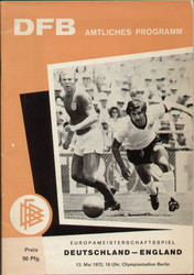 On offer is an original Official programme for the international match West Germany V England played on 13 May 1972 in Berlin.