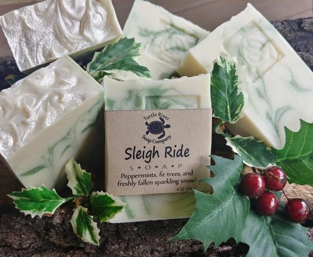 Sleigh Ride natural handmade soap