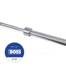 """CAP """"The Boss"""" Olympic Power Lifting Bar, Silver Zinc"""