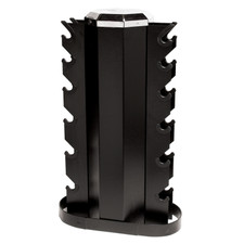 2-Sided Vertical Dumbbell Rack Black
