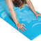 Close up of Tone Fitness Yoga Mat with Floral Pattern, Teal