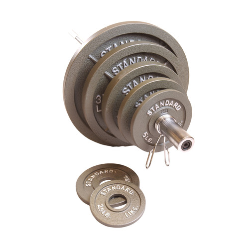 CAP Barbell 300 Pound Olympic Set, Gray