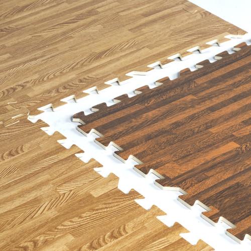 CAP Barbell 6-pcs 2-Sided Foam Tile Flooring w/Wood Style Pattern