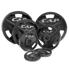 CAP Barbell Black Olympic Grip Plates