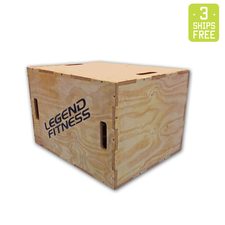 Legend Fitness Wood Plyo Box 3-in-1