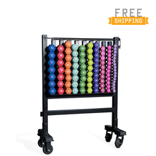 CAP Barbell Neoprene Dumbbell Set and Storage Rack