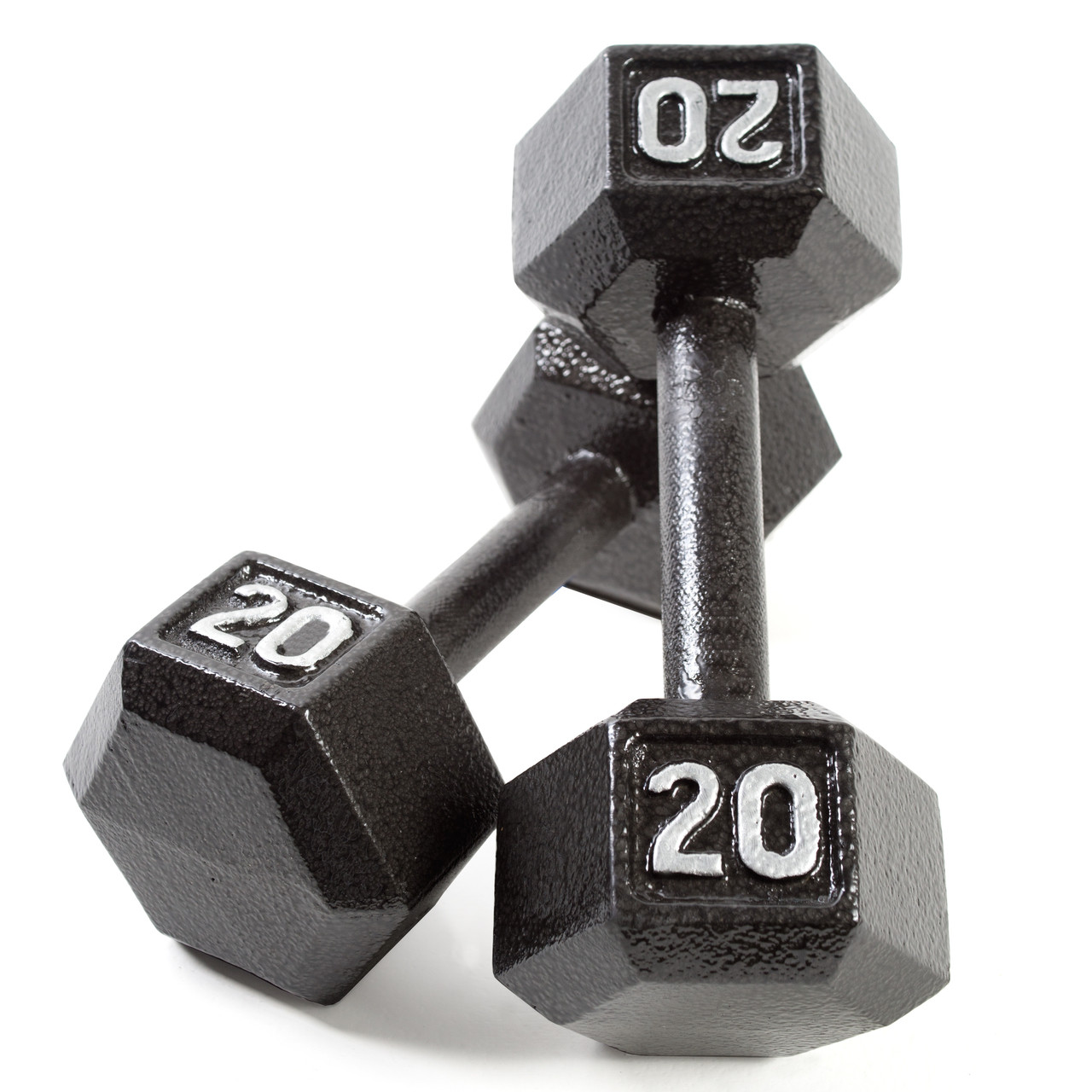44a4f9cc65c CAP Black Cast Iron Hex Dumbbell Set with Rack