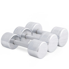 Chromed Solid Dumbbells